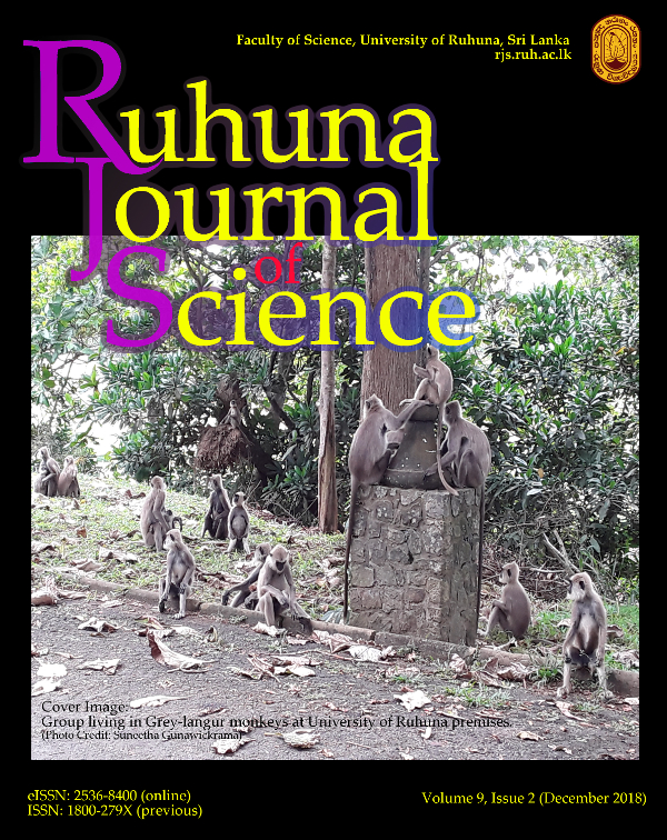 Cover Image: Group living in Grey-langur monkeys at University of Ruhuna premises.