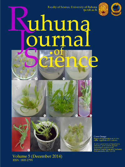 In vitro regeneration of Hypochaeris radicata L. from  sodium alginate-encapsulated synthetic seeds RJS, 5, 16-30